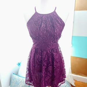 Lace Purple Dress